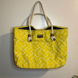 TOMMY HILFIGER Yellow Small Beach Tote